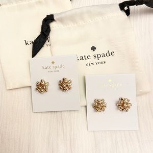 [2 Pairs] Kate Spade - Bourgeois Bow - GOLD